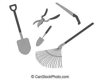 Garden tools. Vector illustration