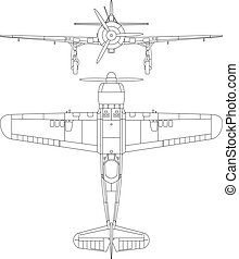 IAR 80 - High detailed vector illustration of old Romanian...