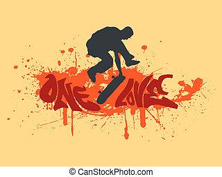 One love skateboarding