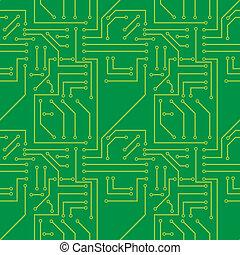 Electronic Seamless pattern