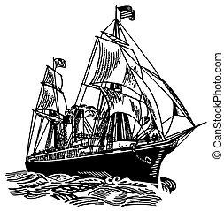America atlantic boat at sea