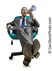 Man sitting on the chair
