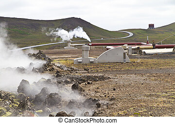 Geothermal Power Station in Iceland - Geothermal powerstion...