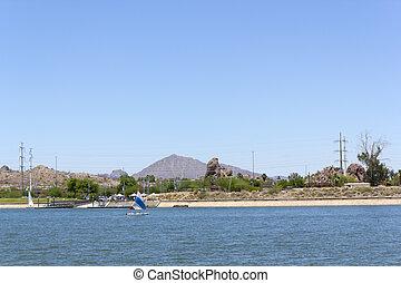 Marina at Tempe Town Lake, AZ - Refreshing marina at Tempe...