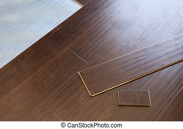 Newly Installed Brown Laminate Flooring