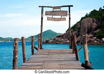 Koh, Nangyuan, madera, Puente