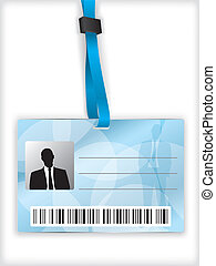Business identification - Blue business identification with...