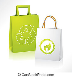 Bio and eco paperbags - Eco friendly paperbag with bio...