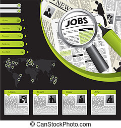 Job searching website template