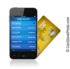Mobile Banking Concept - Illustration of mobile banking...