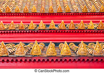 Thai style buddhism temple Roof Tiles