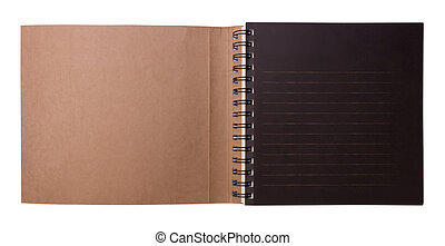 Open drawing book with clipping path