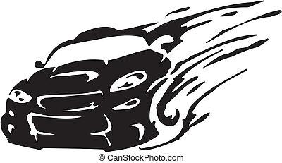 raça, car, -, vetorial, Ilustração