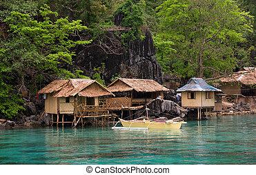 bote, FILIPINAS, mar