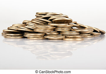 Indian coin collection - Pile of money (indian coin )...