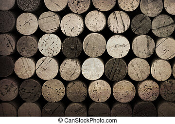 Vintage corks - Vintage effect wine cork background