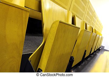 university yellow lecture hall