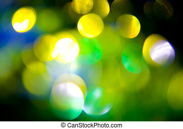 Coloured bokeh background