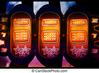 slot machine background - nice colorful slot machine in a...