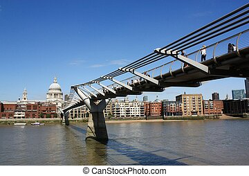 Millennium Bridge and St.Paul's Cathedral