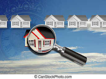 Home Inspection. - Homes under magnification.