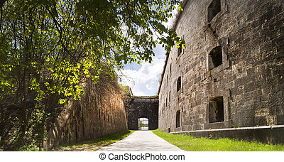 Backside gate - Gate on the back side of a big fortress in...