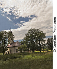 Small church - Small christian church between the trees