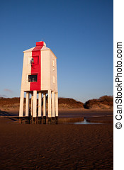 Lighthouse, Burnham-on-Sea, Somerset, UK - Wooden lighthouse...