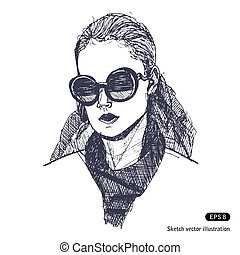 Female with sunglasses