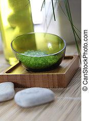 Closeup of natural bath salt