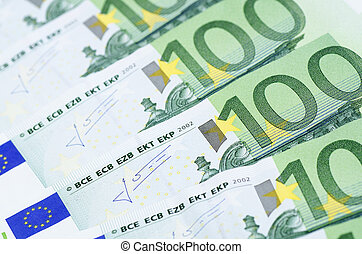 Euro banknotes as a background, close-up - New euro...