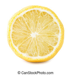 Lemon. Isolated on white background.