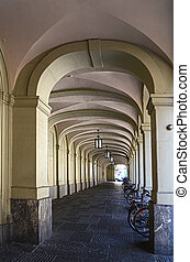 historical  colonade in Bern