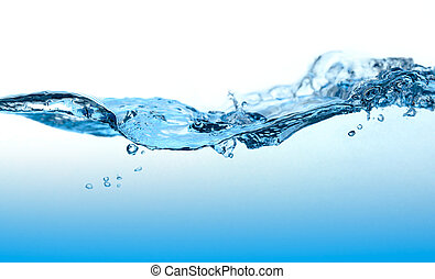 Water Curved Wave. - Close-up picture of abstract water wave...
