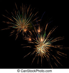 Fireworks - A beautiful fireworks in the night sky