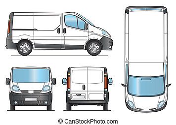 Delivery Van Template - Vector - Delivery Van Template -...