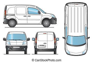 Delivery Van Template - Vector - Delivery Van Template -...