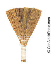 Broom. Isolated on white background