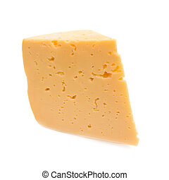 Cheese. Isolated on white background.