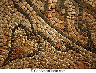 Roman Mosiac Detail - Roman Mosaic Detail