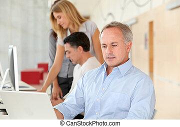 Businessman in work meeting