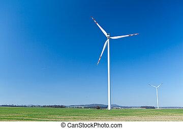 Wind turbine, alternative energy - Wind turbine farm,...