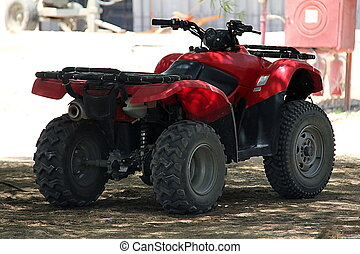 ATV - Red atv quad-bike