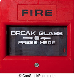 Fire Alarm Point - Fire alarm break glass alarm trigger
