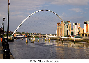 The Millenium Bridge, Newcastle-upon-Tyne UK - The Millenium...