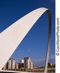 The Millenium Bridge, Newcastle-upon-Tyne UK - The Millenium...