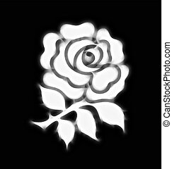 rose emblem - Abstract stylised national rose emblem of...