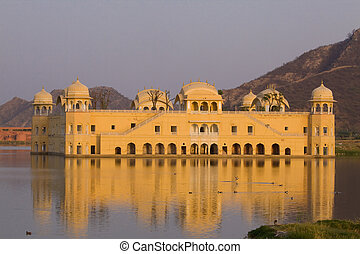 Jal Mahal, Jaipur, India - The Jal Mahal or palace on the...
