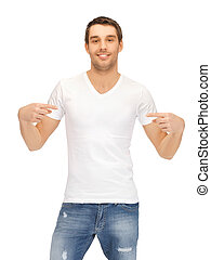 handsome man in white shirt - bright picture of handsome man...
