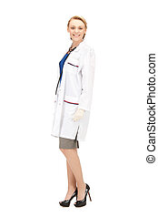 attractive female doctor - bright picture of an attractive...